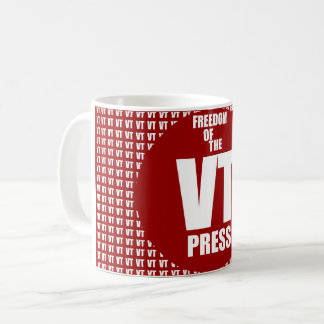 VT Freedom Of The Press Original Edition Coffee Mug