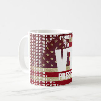 VT Mug - Freedom Of The Press Flag Distort Edition