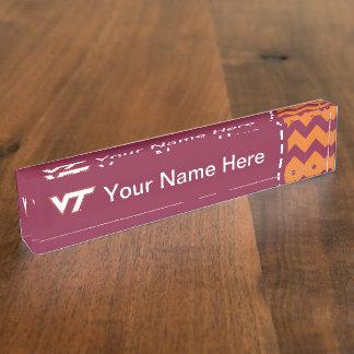 VT Virginia Tech Desk Name Plate