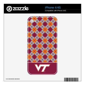 VT Virginia Tech iPhone 4 Decals