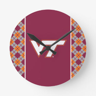 VT Virginia Tech Round Clock