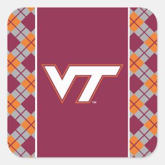 VT Virginia Tech Square Sticker