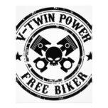 VTWIN POWER FREE BIKER LETTERHEAD