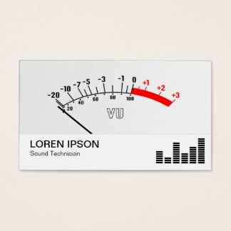 VU Meter 01 Business Card