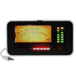VU meters on your loudspeaker set Mini Speaker