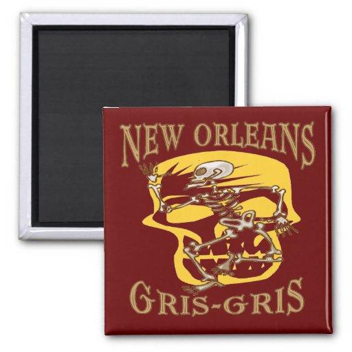 Vudú de New Orleans Gris Gris Imán Cuadrado