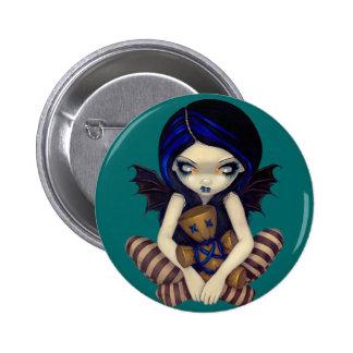 """""""Vudú en"""" botón azul Pin"""