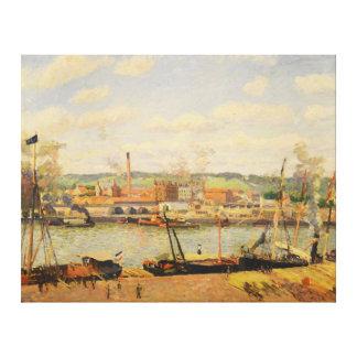 Vue de la Cotonnière d'Oissel Environs de Rouen Canvas Print