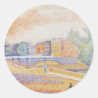 Vue de Paris by Albert Dubois-Pillet Classic Round Sticker