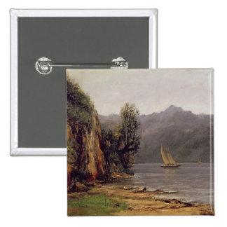 Vue du Lac Leman, c.1873-77 Pinback Button