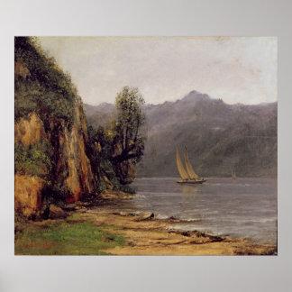 Vue du Lac Leman, c.1873-77 Poster