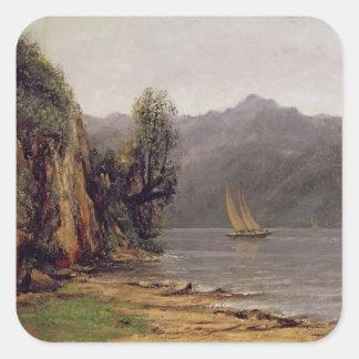 Vue du Lac Leman, c.1873-77 Square Sticker