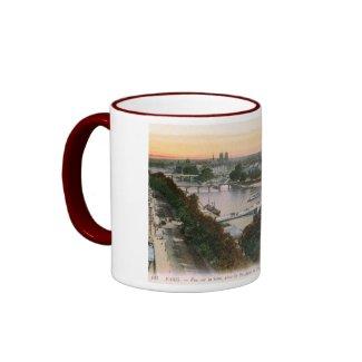 Vue sur la Seine, Paris, France Vintage mug