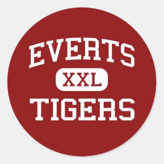 Vuelca - tigres - la escuela secundaria - pegatina redonda