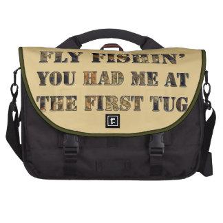 ¡Vuele el fishin que usted me tenía en el primer t Bolsas Para Portatil