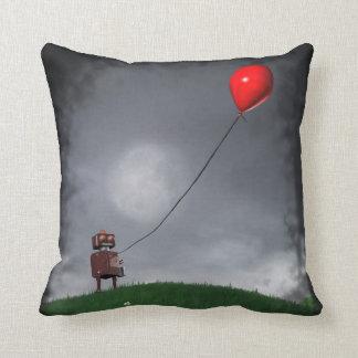 Vuele su pequeño globo rojo almohadas