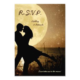 Vuéleme a la luna que casa la invitación de RSVP