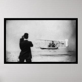 Vuelo 1909 del aeroplano de Wilbur Wright Posters