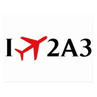 Vuelo 2A3 - aeropuerto de la bahía de Larsen, Postal