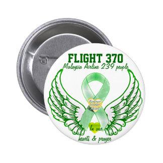 Vuelo 370-Forever en nuestros corazones y prayers_ Pin Redondo 5 Cm