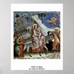 Vuelo a Egipto de Giotto Di Bondone Posters