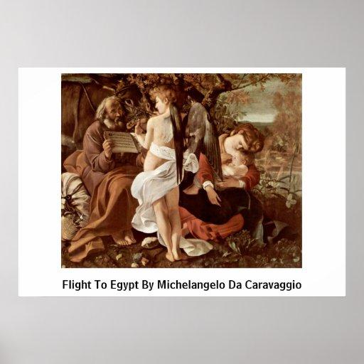 Vuelo a Egipto de Miguel Ángel DA Caravaggio Impresiones