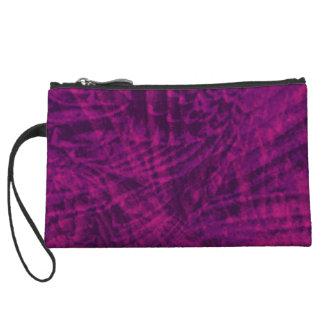 Vuelo abstracto del bolso de embrague púrpura del