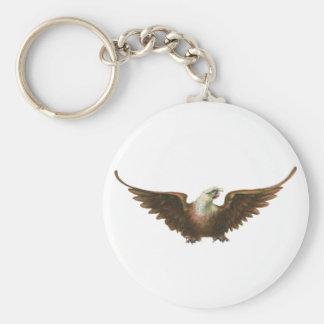 Vuelo americano del pájaro de Eagle calvo del Llavero Redondo Tipo Pin