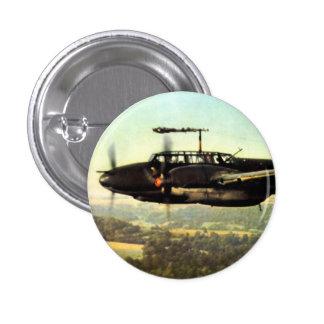 Vuelo bajo ME-110 alemán de WWII Pin Redondo 2,5 Cm