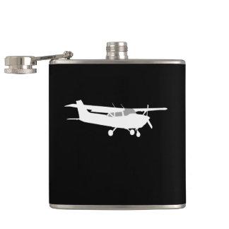 Vuelo clásico de la silueta de Cessna de los