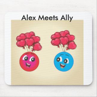 Vuelo de Alex y del aliado con impulsos Alfombrilla De Ratón