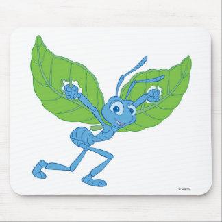 Vuelo de Flik de la vida de un insecto con las hoj Tapetes De Ratones