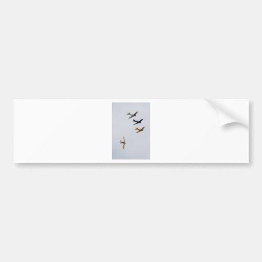 Vuelo de formación pegatina de parachoque