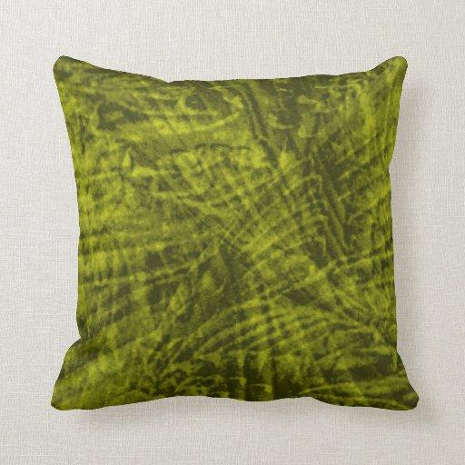 Vuelo de la almohada verde del extracto del cojín decorativo