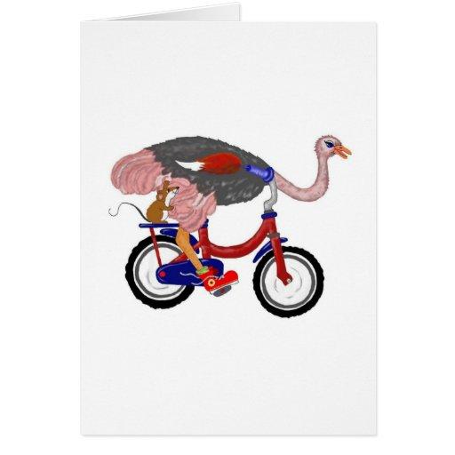 Vuelo de la avestruz felicitacion