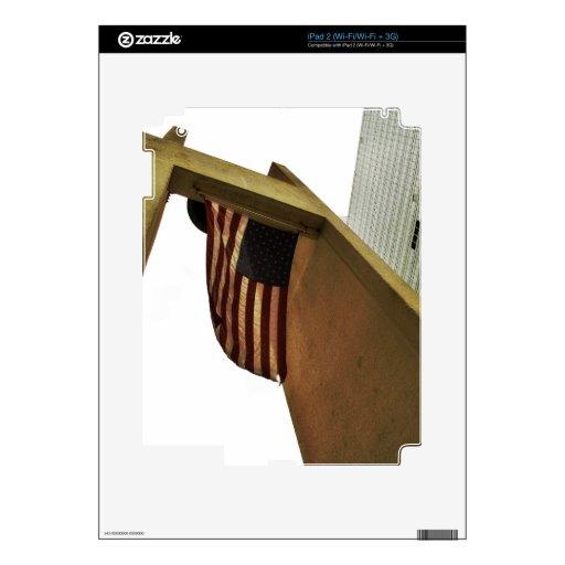 Vuelo de la bandera de los E.E.U.U. Calcomanías Para El iPad 2