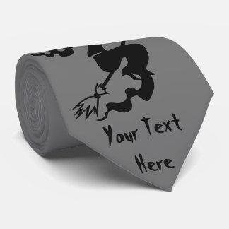 vuelo de la bruja de Halloween en la diversión del Corbatas