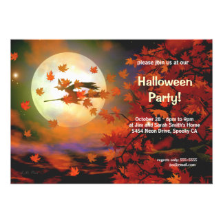 Vuelo de la bruja de Halloween
