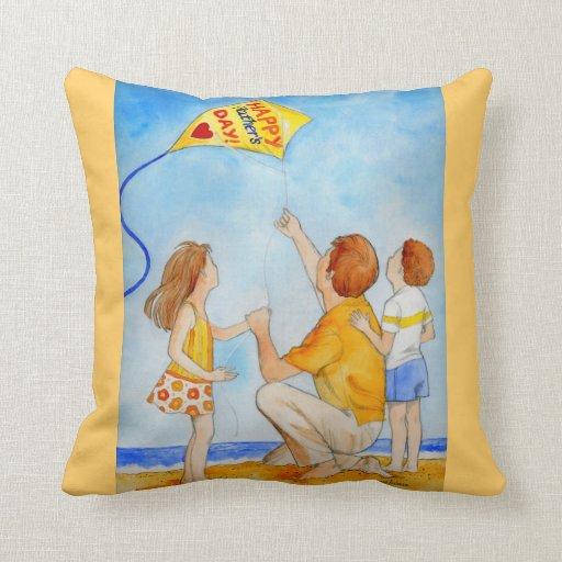 Vuelo de la cometa del día de padre almohadas