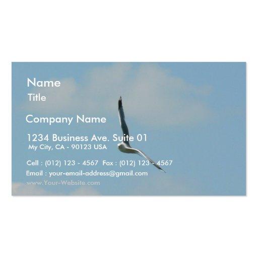 Vuelo de la gaviota en altísimo tarjeta de negocio