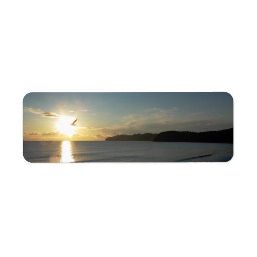 vuelo de la gaviota hacia el sol etiquetas de remite
