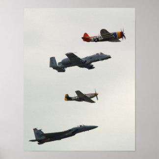 Vuelo de la herencia de la fuerza aérea poster
