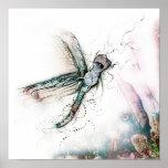 Vuelo de la libélula posters