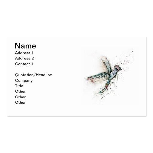 Vuelo de la libélula tarjetas de visita