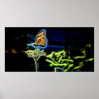 Vuelo de la mariposa poster