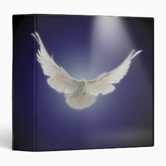 Vuelo de la paloma a través del haz de luz