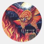 Vuelo de la Phoenix Pegatina Redonda