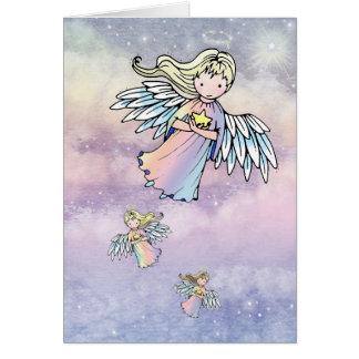 Vuelo de la tarjeta del día de fiesta de los ángel