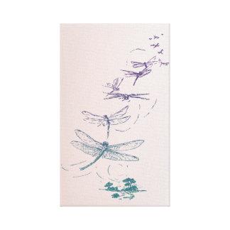 Vuelo de las libélulas lona estirada galerias