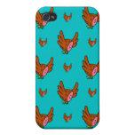 Vuelo de los halcones del jamón iPhone 4 cárcasa